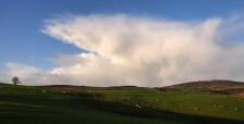 Shower clouds over Stiperstones