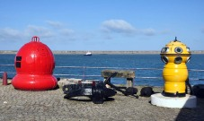 Buoys and the harbour