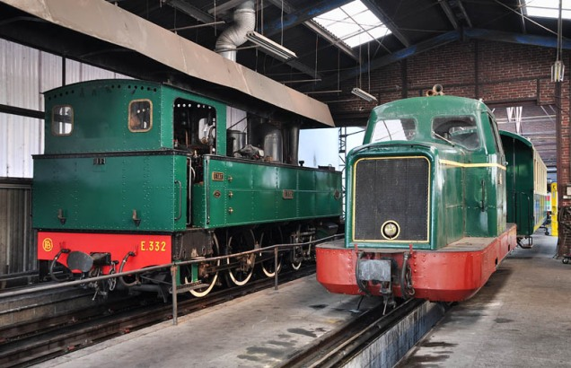 E332 and 351 at the depot