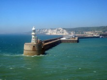 Entering Dover harbour