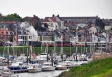 Steam on the quay, Saint Valery