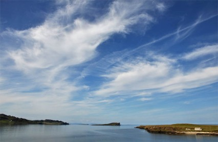 Cirrus over Staffin Bay