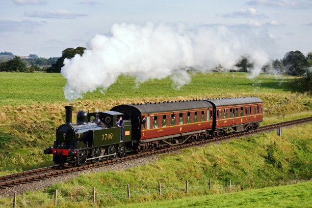 """7799 - the LNWR """"Coal Tank"""", in LMS livery"""