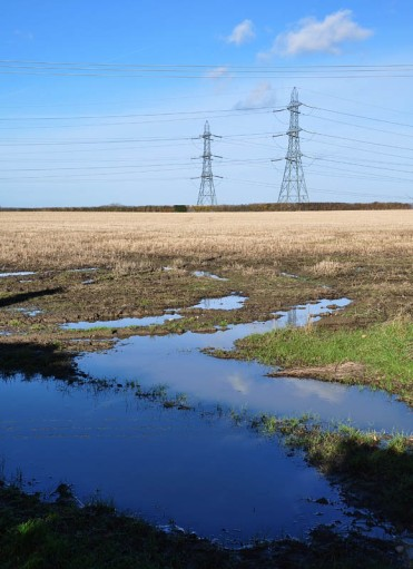 Puddles and pylons