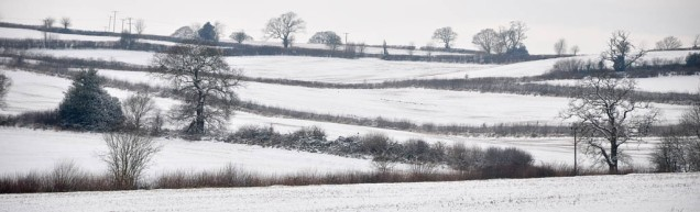 Snow in the fields