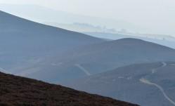 Haze along the ridge