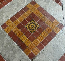 Wigmore church tiles