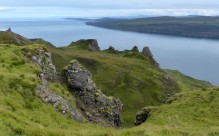 Pinnacles below the ridge