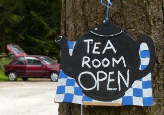 Tea room open