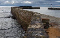 Anstruther harbour wall