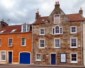 Pitternweem harbour buildings