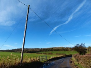 Pole, lane and contrail