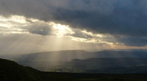 Sunbeams in the south-west