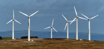 Turbines on the hill