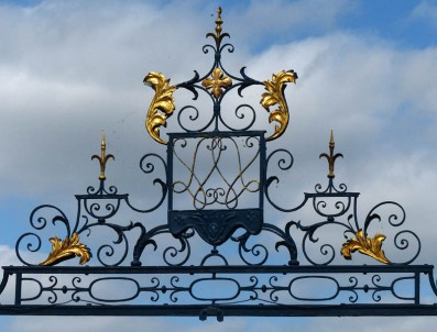 Atop the gate