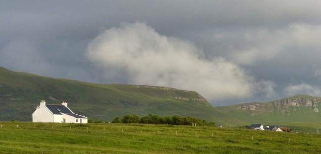 A backdrop of hills