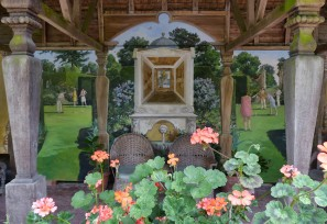 Painted pavilion