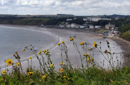 Filey with flowers