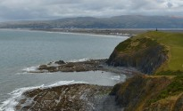Looking back to Borth