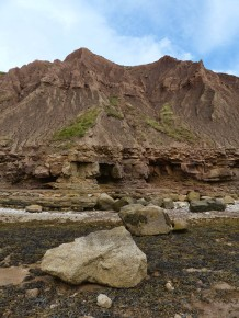 Mud mini-mountains
