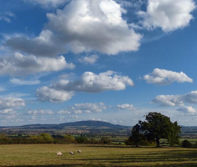 Big sky over the Wrekin
