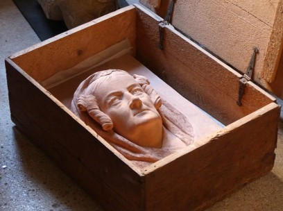 Head in box