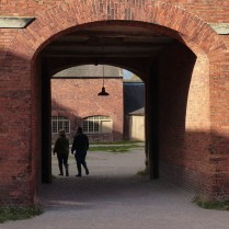 Out through the stable block