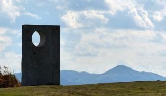 Sculpture and Stretton hills
