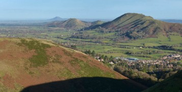 Caer Caradoc, The Lawley and the distant Wrekin