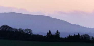 Dusk over Brown Clee