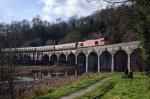 "60079 hauls ""The Shropshire Union"" railtour across Coalbrookdale viaduct"