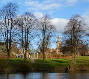 Bandstand and St Chad's