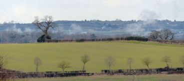 Those fields are steaming