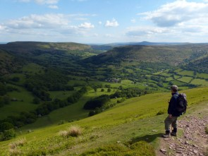 Look down to Llanthony