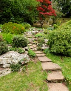 Path to the rockery