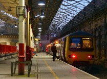 Manchester train at Crewe