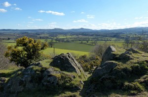 South Shropshire hills