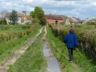 Approaching Bradley Farm