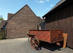 Brick, iron and wood
