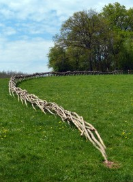 Fence sculpture
