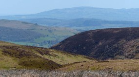 Hazy view to Brown Clee