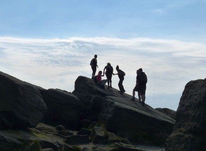Celebrating - on the rocks