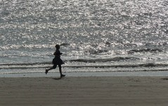 Jogger on the beach