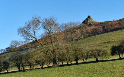 Clear blue above the Gaer Stone