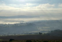 Looking over Apedale