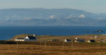 Kilmuir church and the Harris hills