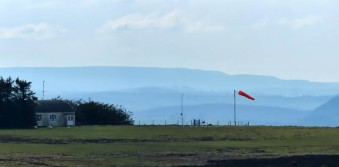 Gliding field, and Radnor Forest skyline