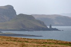 Dun Skudiburgh and its stack