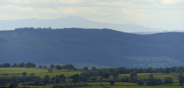 55 miles distant: Brecon Beacons