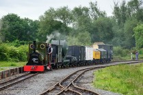 The Peckett on the freight
